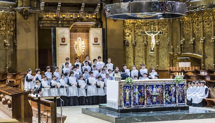 Montserrat_Escolania coro niños